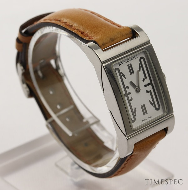 Bulgari Rettangolo Ladies Stainless Steel - image 3