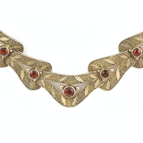 A 1930s Silver Gilt & Citrine Necklace by Theodor Fahrner - image 2