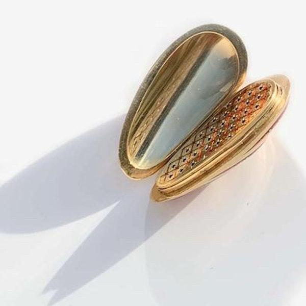 A Gold Red and White Enamel Vinaigrette - image 2