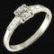 MM5513r Platinum Art Deco single stone ring - image 2
