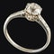 MM6379r Platinum set 1ct single stone diamond ring - image 3
