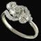 MM6495 Edwardian three stone diamond crossover ring - image 2