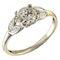 MM6165r Platinum single stone diamond ring.71pts with pear shaped diamond shoulders 1910/30c - image 1