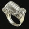 MM6492r Platinum 1940/50c cocktail ring with fine quality baguette and round diamonds - image 2