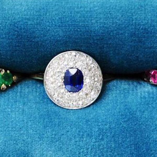 An Art Deco Burma Sapphire and Diamond ring - image 1