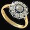 MM6490r Sapphire diamond cluster ring gold platinum set 1920c - image 1