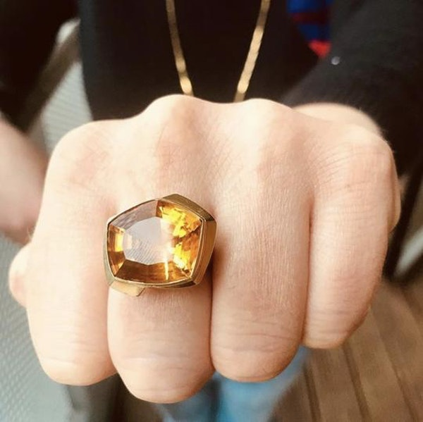 An 1980s Gold Citrine Ring - image 1