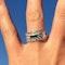 A Diamond Sapphire three row ring - image 3