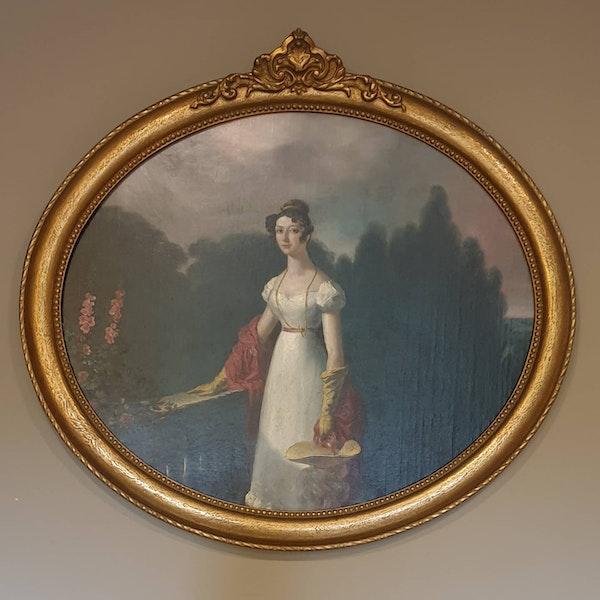 Georgian Oval Portrait Edmund Thomas Parris - image 1
