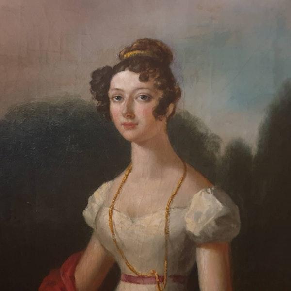 Georgian Oval Portrait Edmund Thomas Parris - image 2