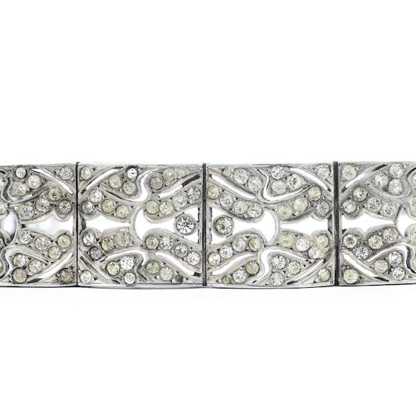 An Art Deco Silver and Paste Bracelet - image 2