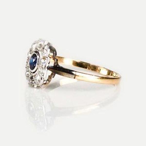 A 1920s Montana Diamond and Sapphire Ring - image 1