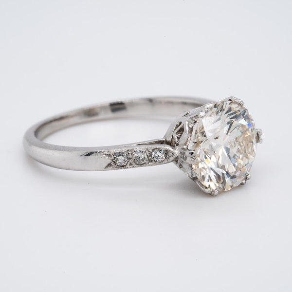 Platinum 2.23ct Diamond  Solitaire Engagement Ring - image 4