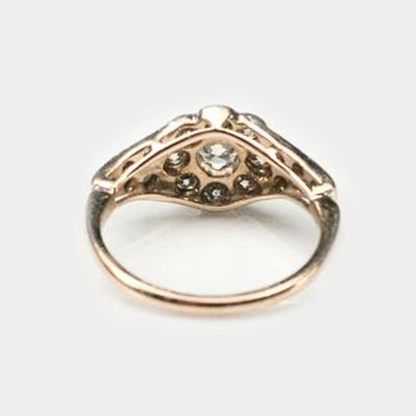An antique Diamond Daisy Ring - image 3