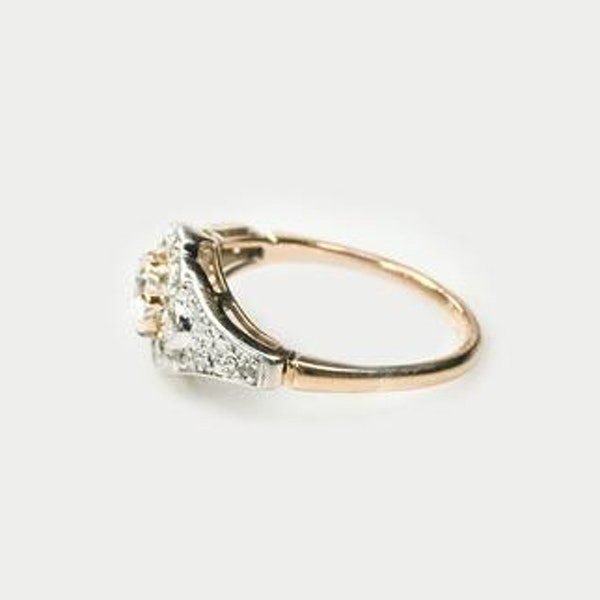 An antique Diamond Daisy Ring - image 2
