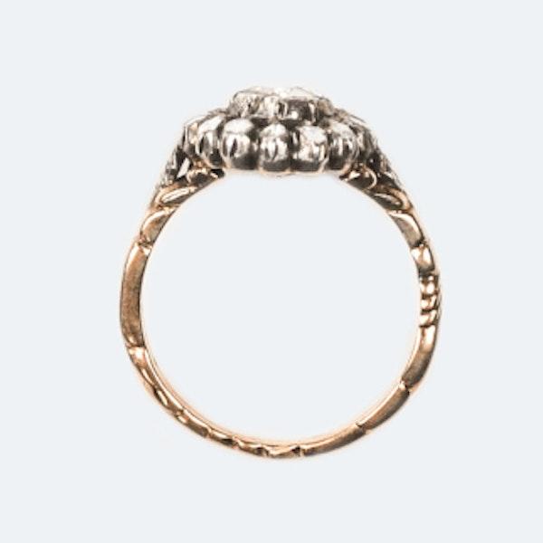 An 1860 Dutch Rose Diamond Ring - image 4