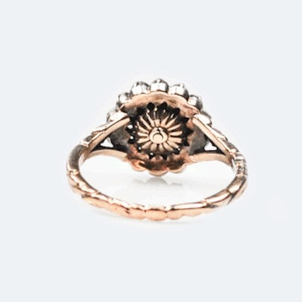 An 1860 Dutch Rose Diamond Ring - image 3