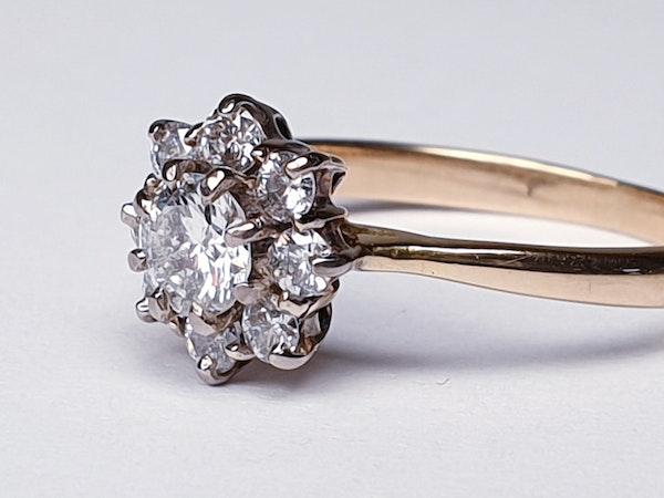 Vintage Diamond Cluster Engagement Ring  DBGEMS - image 2