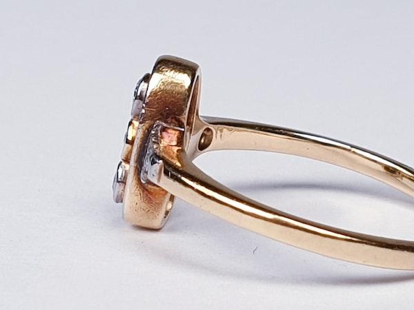 Ruby and diamond art deco ring  DBGEMS - image 3