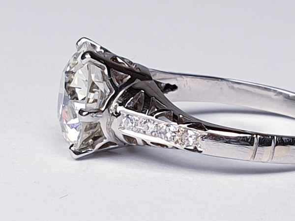 2.61ct old European transitional cut diamond engagement ring  DBGEMS - image 4