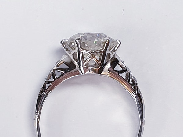 2.61ct old European transitional cut diamond engagement ring  DBGEMS - image 3