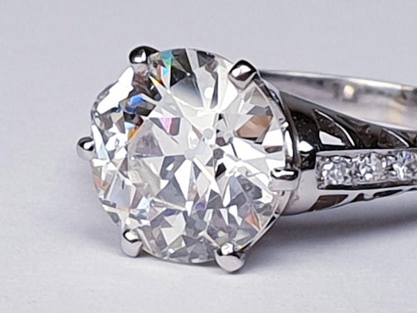 2.61ct old European transitional cut diamond engagement ring  DBGEMS - image 5