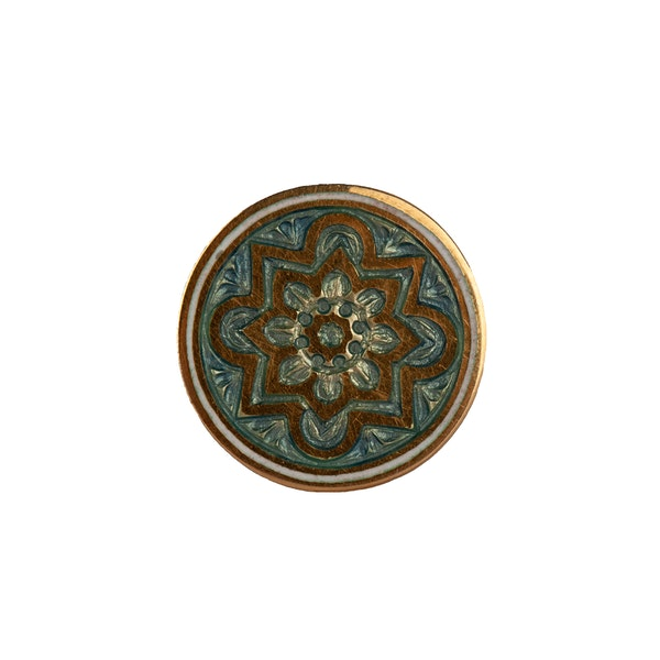 Edwardian 18 Carat Gold Cufflinks with Celtic Pattern in Enamel, English circa 1900. - image 2