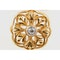 Art Nouveau Cufflinks Single Sided in 18 Karat Gold Floral Openwork & Central Diamond, French circa 1890. - image 2