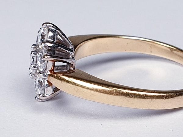Vintage Diamond Cluster Ring  DBGEMS - image 2