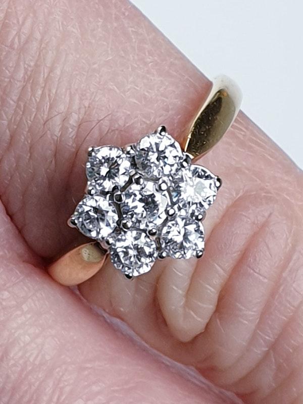 Vintage Diamond Cluster Ring  DBGEMS - image 5
