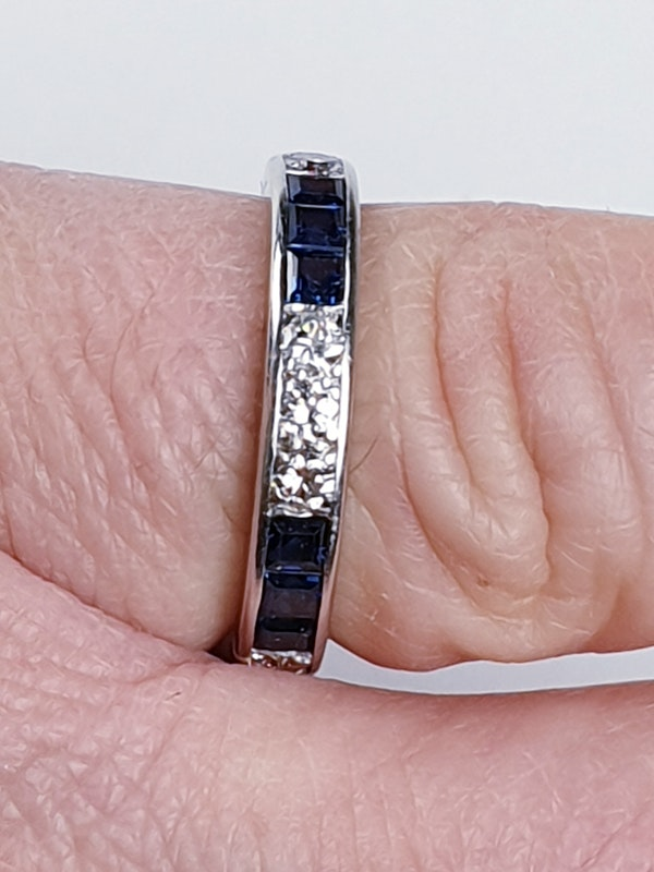 Sapphire and diamond eternity ring  DBGEMS - image 3