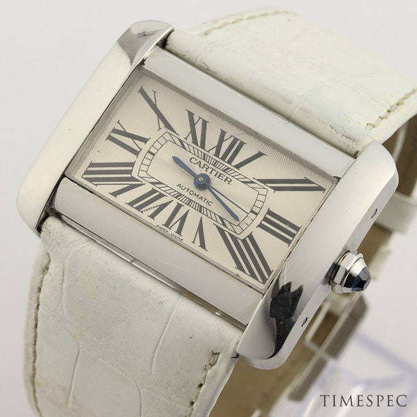 Cartier Tank Divan Automatic, Large Model, Stainless Steel - image 3