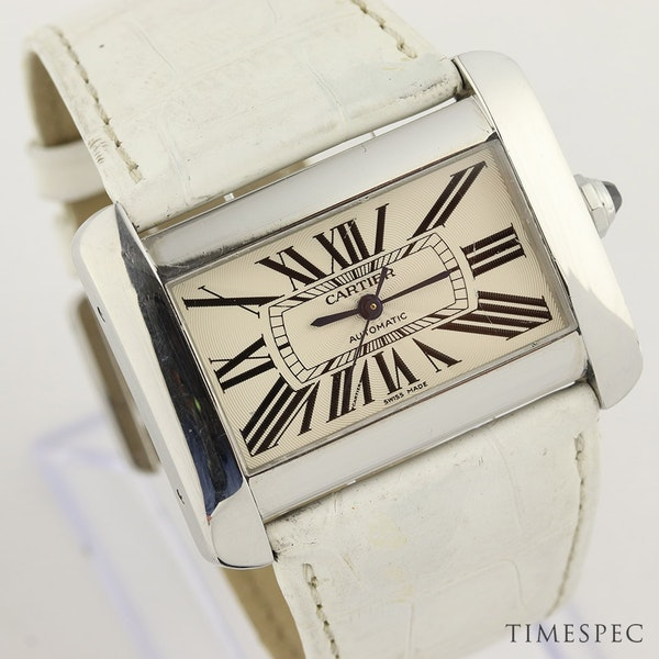 Cartier Tank Divan Automatic, Large Model, Stainless Steel - image 2
