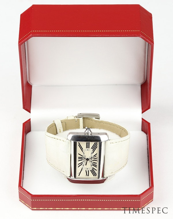 Cartier Tank Divan Automatic, Large Model, Stainless Steel - image 6