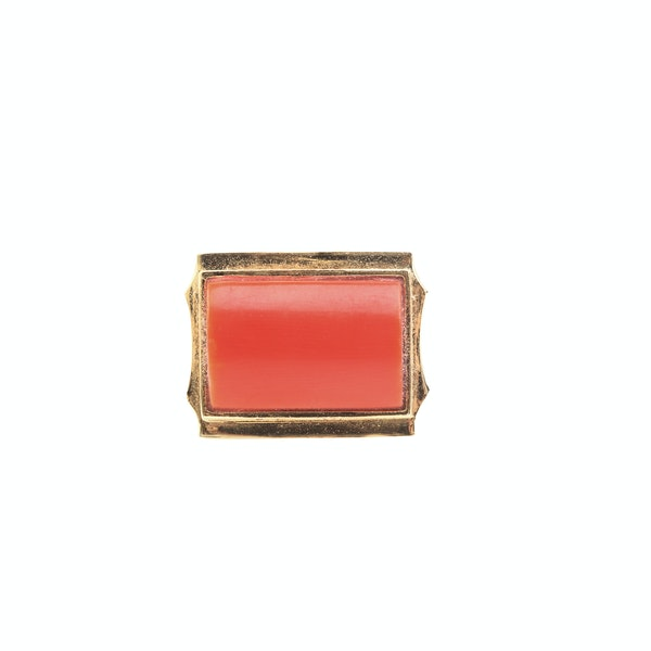 A 1950s Gold Coral Ring - image 2