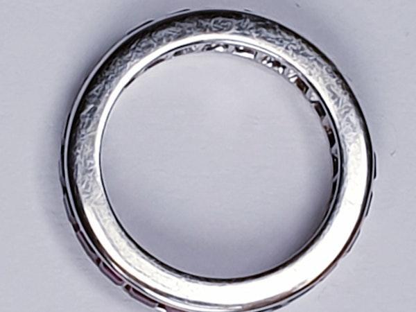 Full hoop ruby eternity ring set in platinum  DBGEMS - image 3