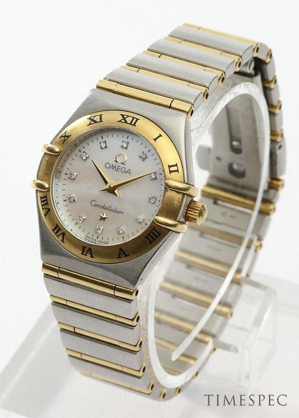 Omega Constellation Ladies MOP Diamond Dial Steel & Gold - image 3