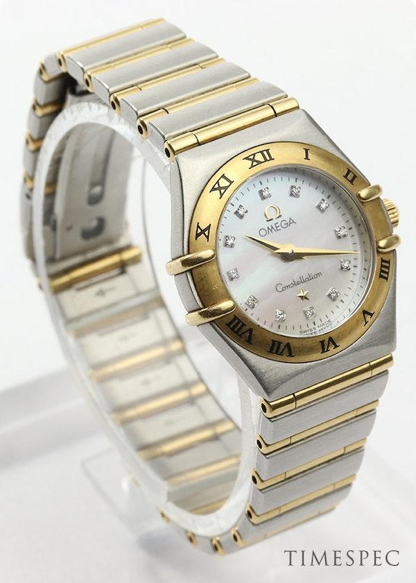 Omega Constellation Ladies MOP Diamond Dial Steel & Gold - image 6