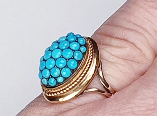 Victorian Turquoise Bombe Ring  DBGEMS - image 5