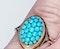 Victorian Turquoise Bombe Ring  DBGEMS - image 2