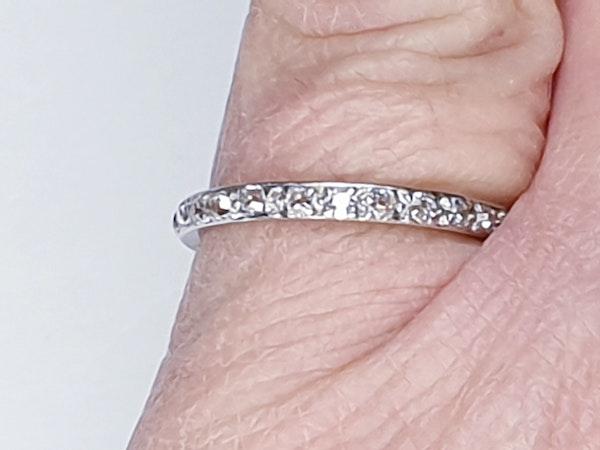 Art Deco Full Hoop Diamond Eternity Ring  DBGEMS - image 3