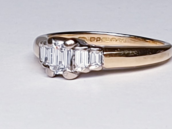 Vintage Emerald Cut and Baguette Diamond Engagement Ring  DBGEMS - image 4