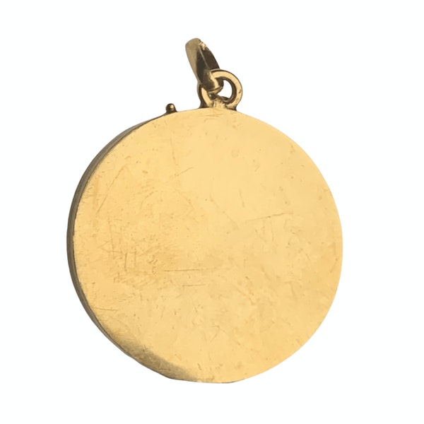 An Art Nouveau Gold and Diamond Pendant - image 2
