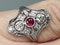 Art deco ruby and diamond ring  DBGEMS - image 5
