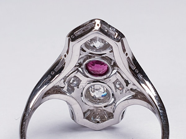 Art deco ruby and diamond ring  DBGEMS - image 3