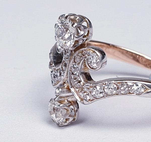 Art Nouveau Diamond Ring  DBGEMS - image 5