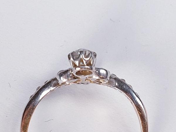 Art Nouveau Diamond Ring  DBGEMS - image 3
