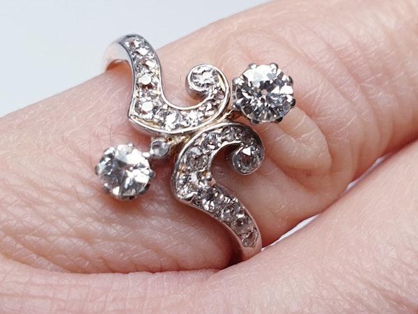 Art Nouveau Diamond Ring  DBGEMS - image 2