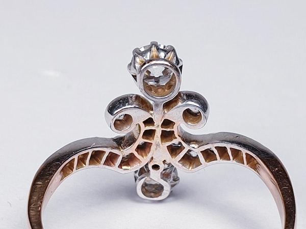Art Nouveau Diamond Ring  DBGEMS - image 4