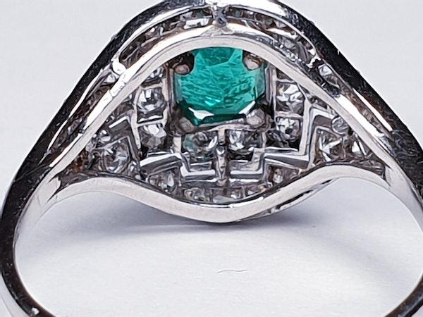 Art Deco Emerald and Diamond Ring  DBGEMS - image 5